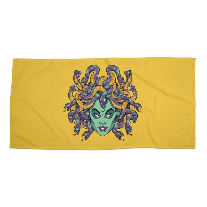 Medusa Accessories Beach Towel by bennygraphix's Artist Shop