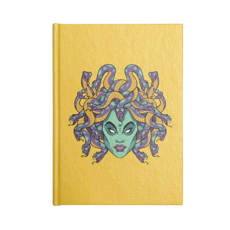 Medusa Accessories Lined Journal Notebook by bennygraphix's Artist Shop