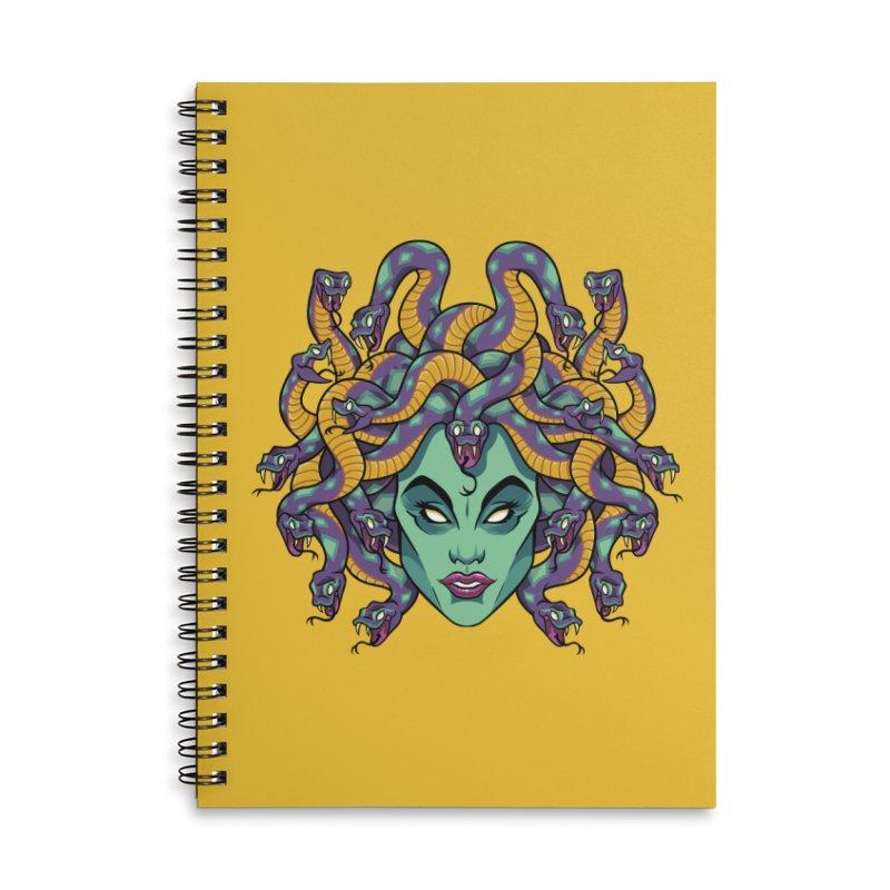 Medusa Accessories Lined Spiral Notebook by bennygraphix's Artist Shop