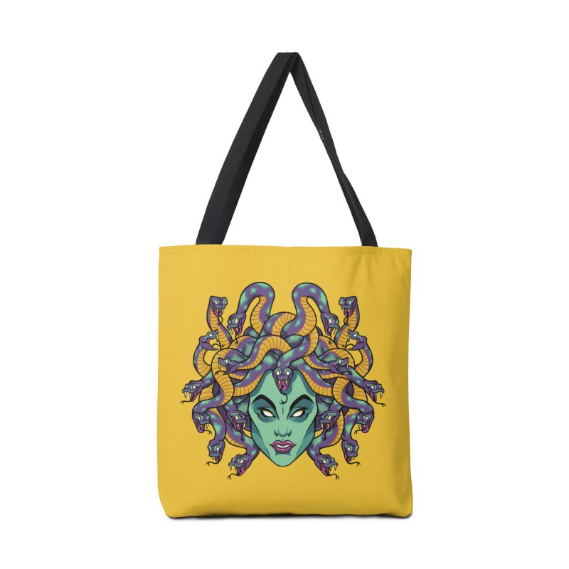 Medusa Accessories Tote Bag Bag by bennygraphix's Artist Shop