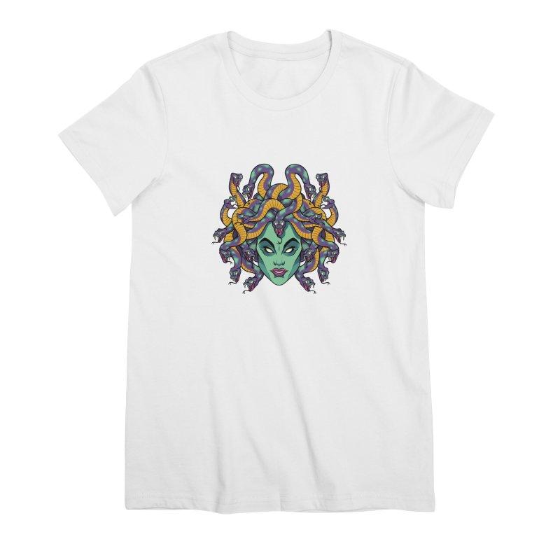 Medusa Women's Premium T-Shirt by bennygraphix's Artist Shop