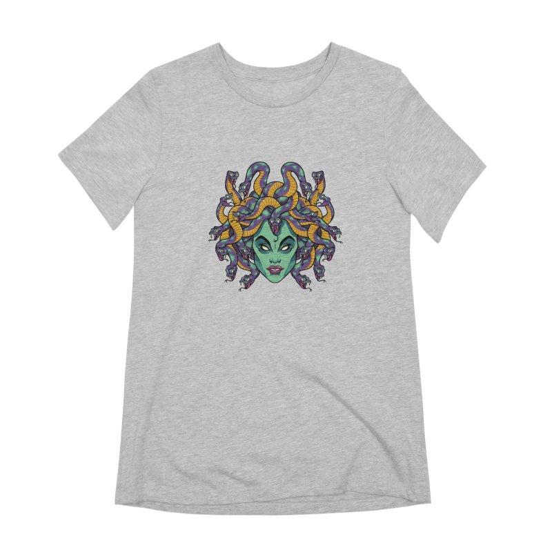 Medusa Women's Extra Soft T-Shirt by bennygraphix's Artist Shop