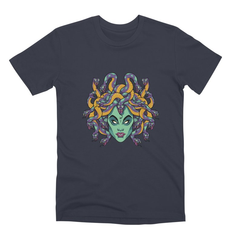 Medusa Men's Premium T-Shirt by bennygraphix's Artist Shop