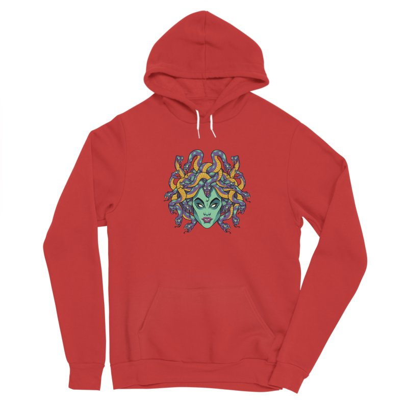 Medusa Men's Sponge Fleece Pullover Hoody by bennygraphix's Artist Shop
