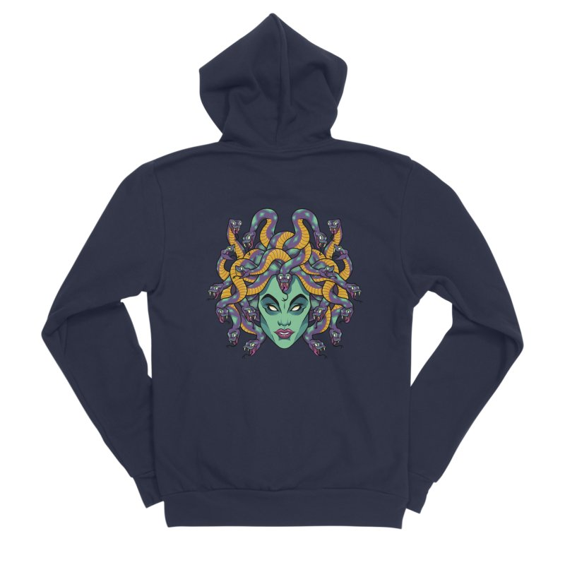 Medusa Women's Sponge Fleece Zip-Up Hoody by bennygraphix's Artist Shop