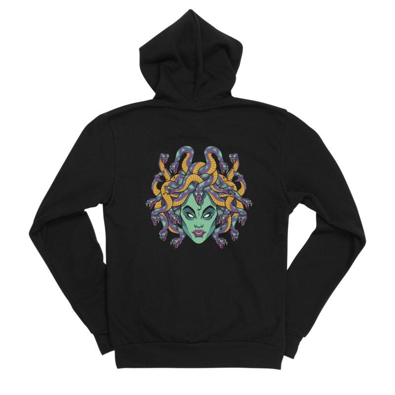 Medusa Men's Sponge Fleece Zip-Up Hoody by bennygraphix's Artist Shop