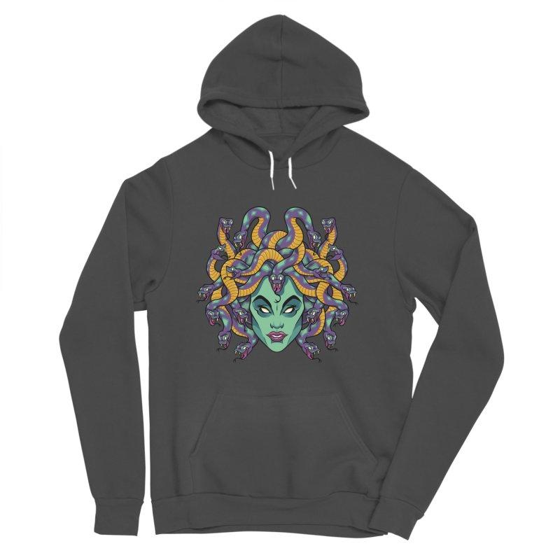 Medusa Men's Sponge Fleece Pullover Hoody by bennygraphix's Artist Shop