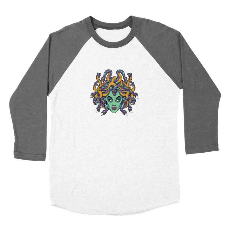 Medusa Men's Baseball Triblend Longsleeve T-Shirt by bennygraphix's Artist Shop