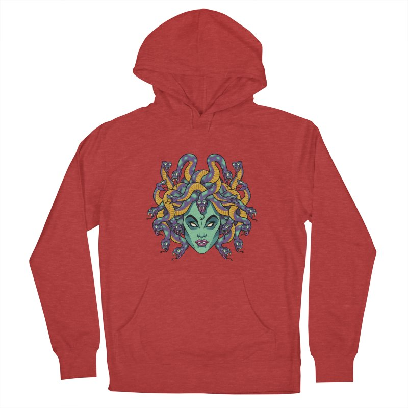 Medusa Women's French Terry Pullover Hoody by bennygraphix's Artist Shop