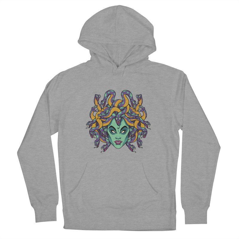 Medusa Men's French Terry Pullover Hoody by bennygraphix's Artist Shop