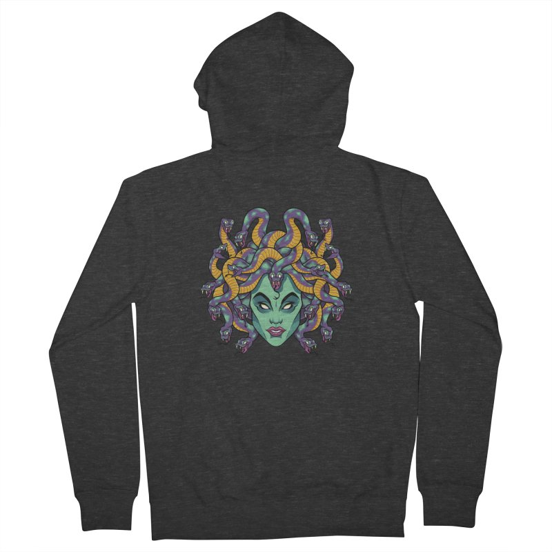 Medusa Women's French Terry Zip-Up Hoody by bennygraphix's Artist Shop
