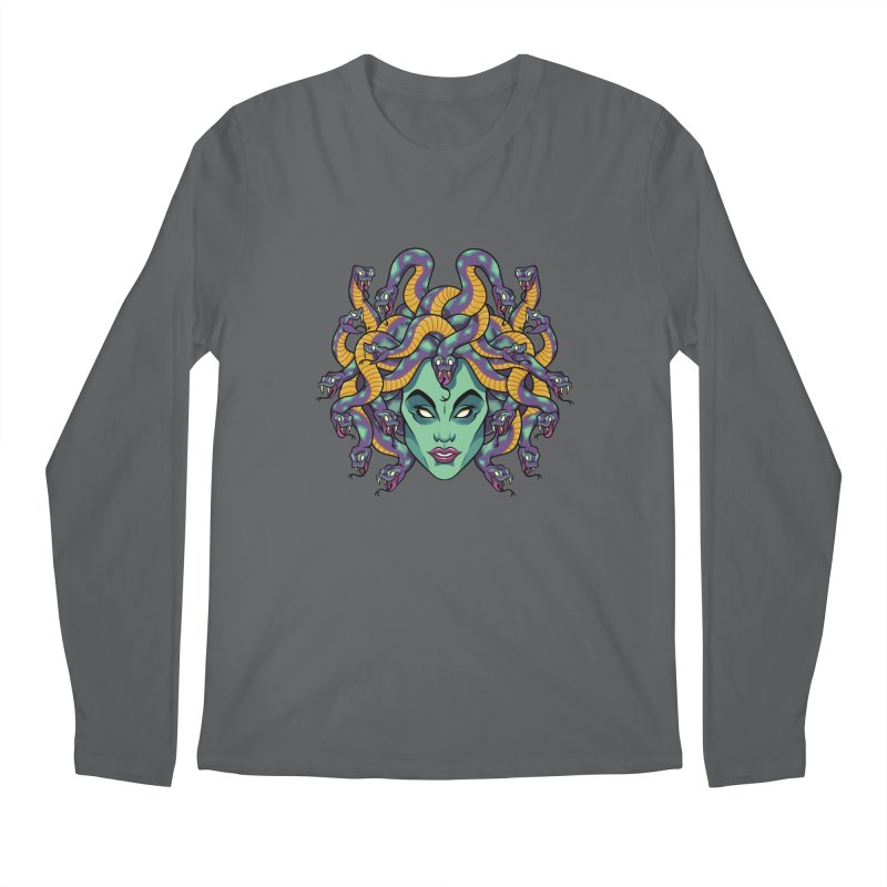 Medusa Men's Regular Longsleeve T-Shirt by bennygraphix's Artist Shop