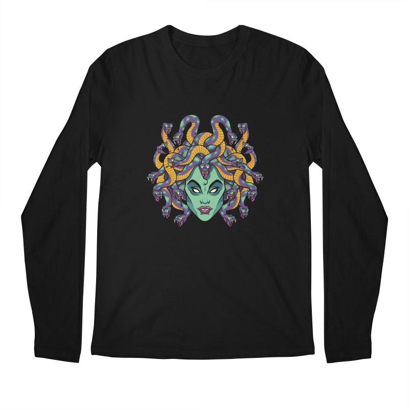 Medusa Men's Regular Longsleeve T-Shirt by bennygraphix's Artist Shop