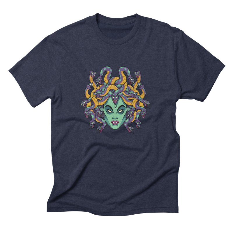 Medusa Men's Triblend T-Shirt by bennygraphix's Artist Shop