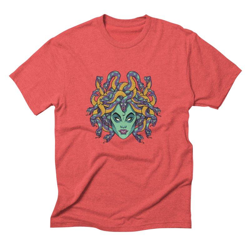 Medusa Men's Triblend T-Shirt by bennygraphix's Artist Shop