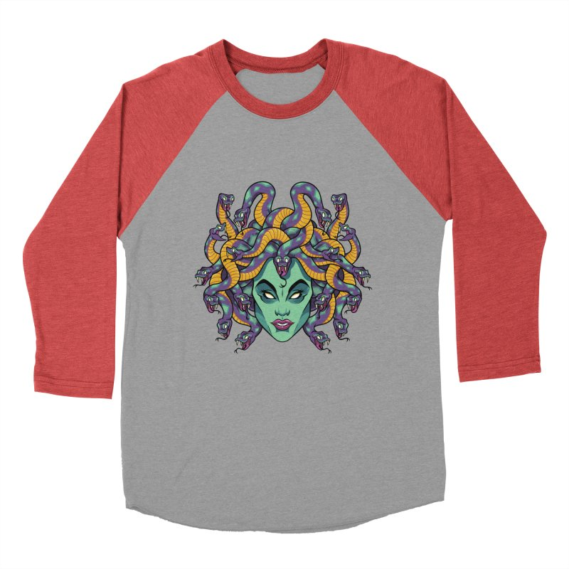 Medusa Women's Baseball Triblend Longsleeve T-Shirt by bennygraphix's Artist Shop