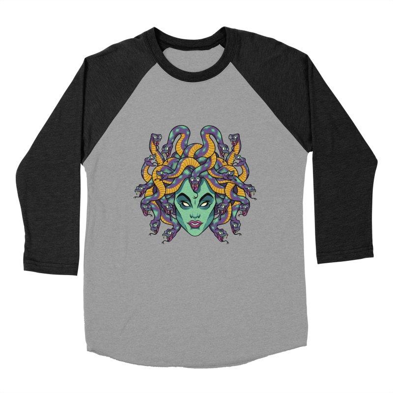 Medusa Men's Baseball Triblend Longsleeve T-Shirt by bennygraphix's Artist Shop