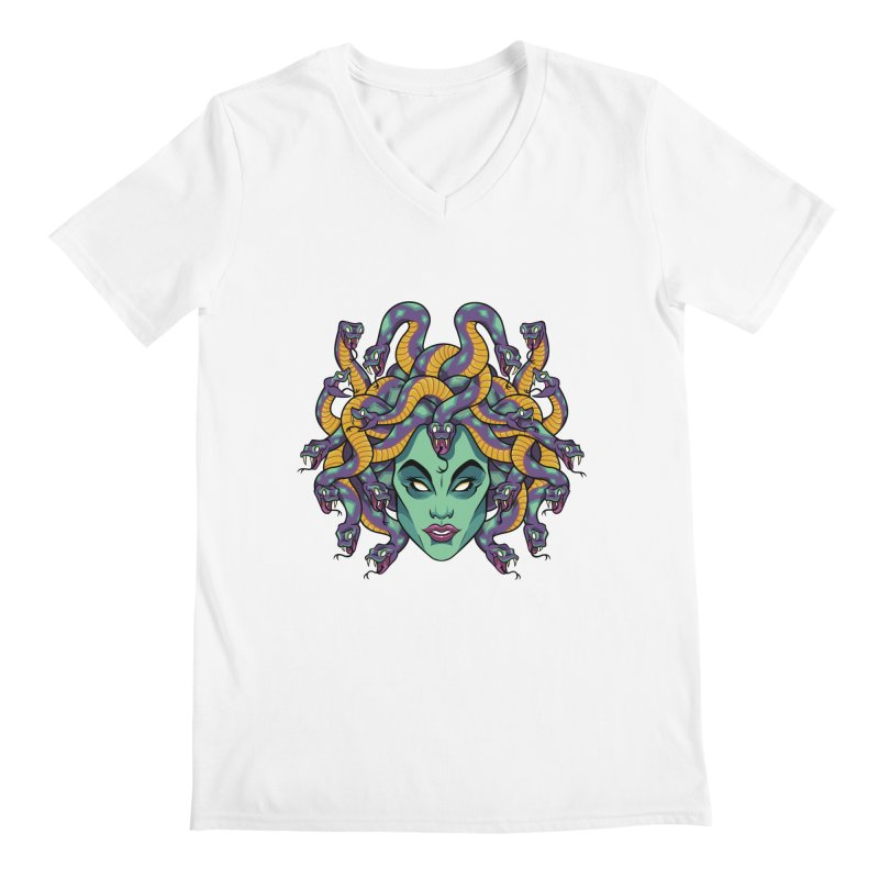 Medusa Men's V-Neck by bennygraphix's Artist Shop