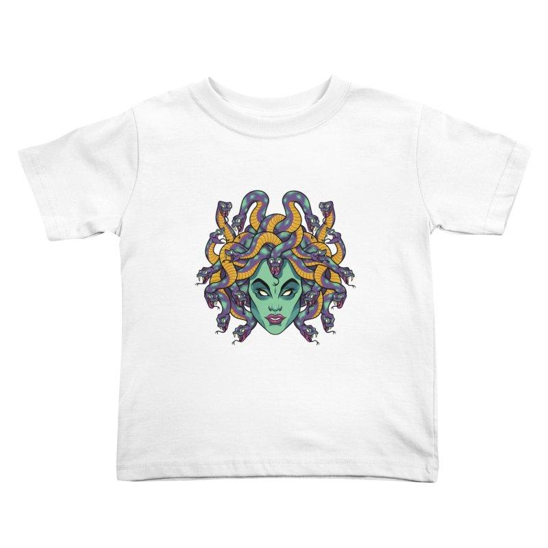 Medusa Kids Toddler T-Shirt by bennygraphix's Artist Shop