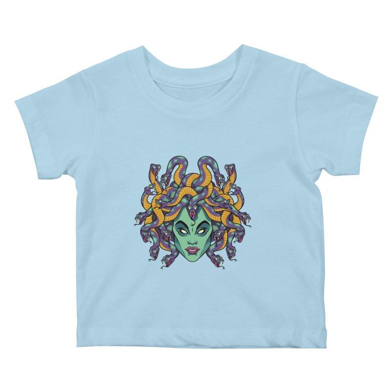 Medusa Kids Baby T-Shirt by bennygraphix's Artist Shop
