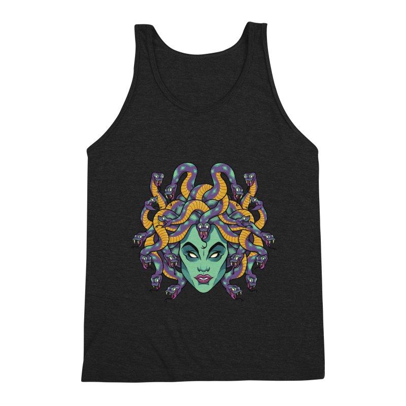 Medusa Men's Triblend Tank by bennygraphix's Artist Shop