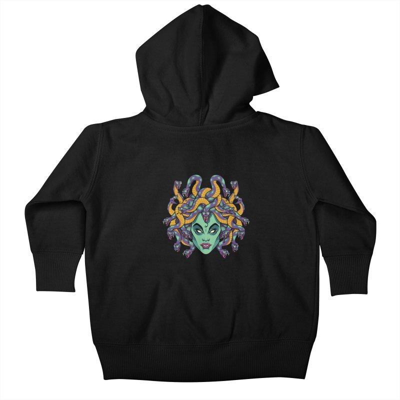 Medusa Kids Baby Zip-Up Hoody by bennygraphix's Artist Shop