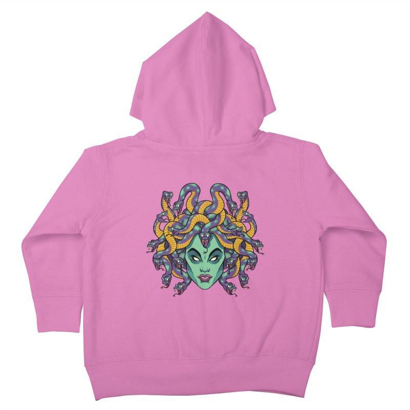 Medusa Kids Toddler Zip-Up Hoody by bennygraphix's Artist Shop