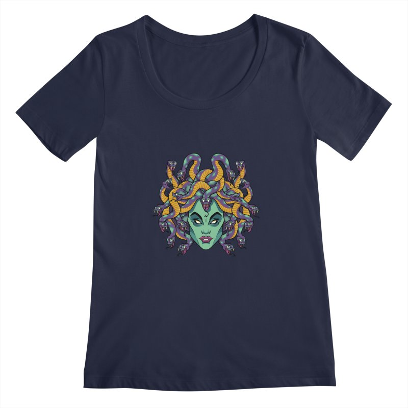 Medusa Women's Regular Scoop Neck by bennygraphix's Artist Shop