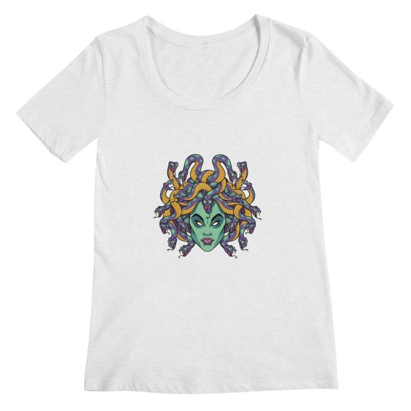 Medusa Women's Regular Scoop Neck by bennygraphix's Artist Shop