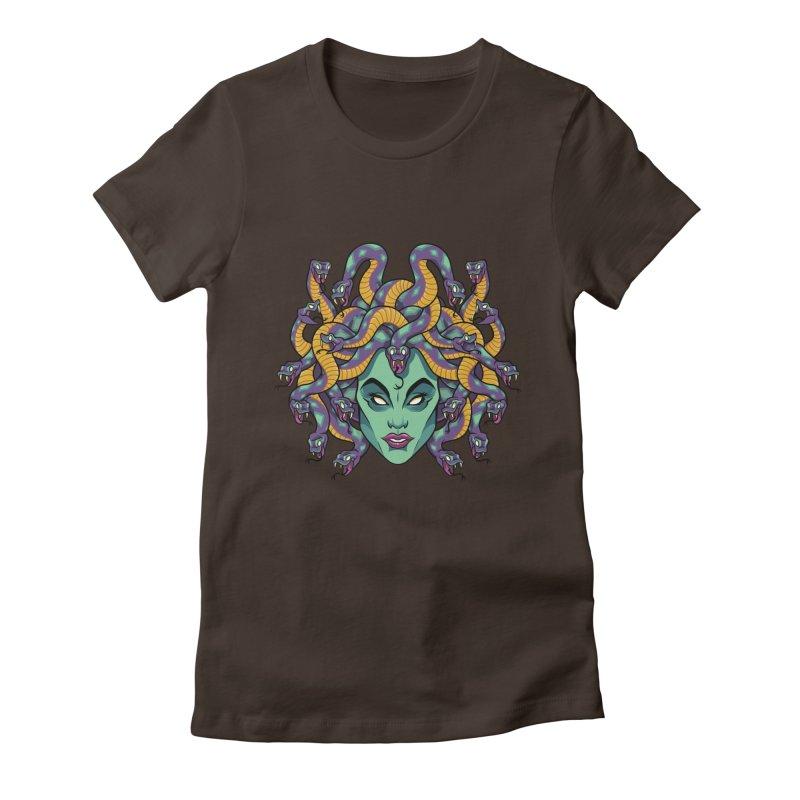 Medusa Women's Fitted T-Shirt by bennygraphix's Artist Shop