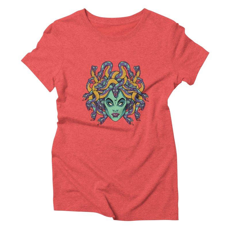 Medusa Women's Triblend T-Shirt by bennygraphix's Artist Shop