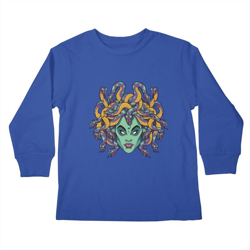 Medusa Kids Longsleeve T-Shirt by bennygraphix's Artist Shop