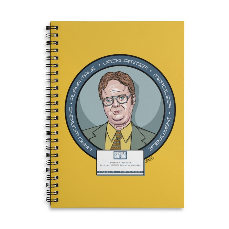 Dwight Accessories Lined Spiral Notebook by bennygraphix's Artist Shop