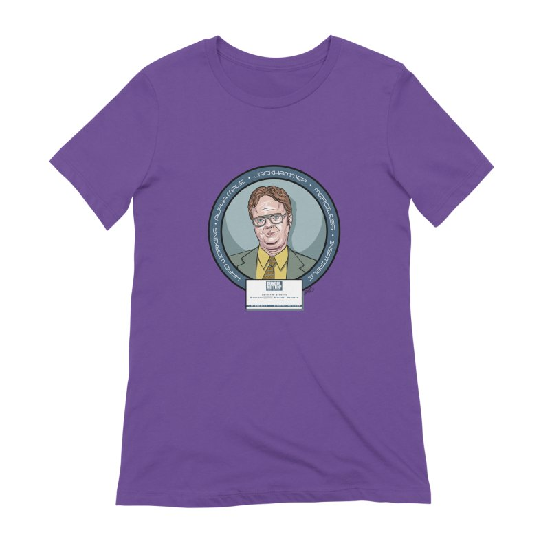 Dwight Women's Extra Soft T-Shirt by bennygraphix's Artist Shop