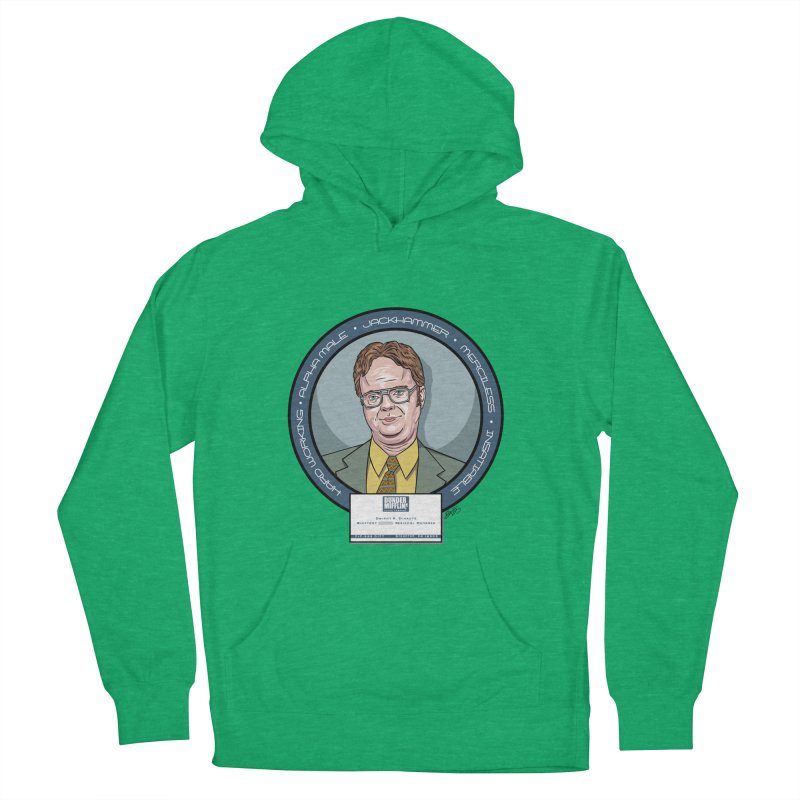 Dwight Men's French Terry Pullover Hoody by bennygraphix's Artist Shop