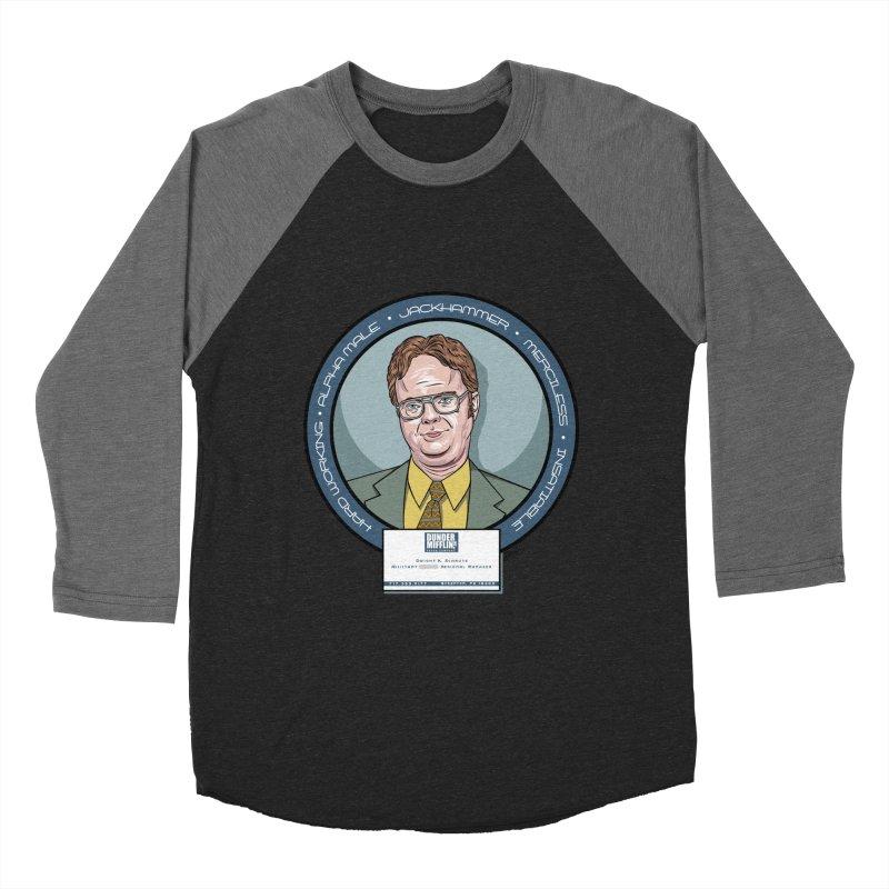 Dwight Men's Baseball Triblend Longsleeve T-Shirt by bennygraphix's Artist Shop