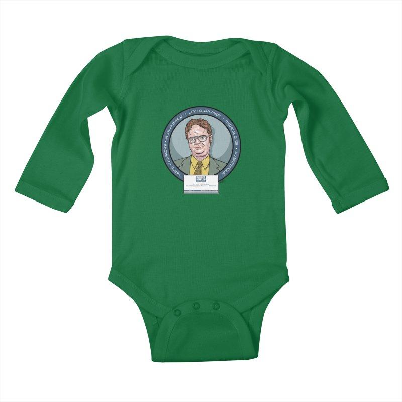 Dwight Kids Baby Longsleeve Bodysuit by bennygraphix's Artist Shop