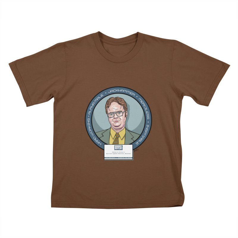 Dwight Kids T-Shirt by bennygraphix's Artist Shop