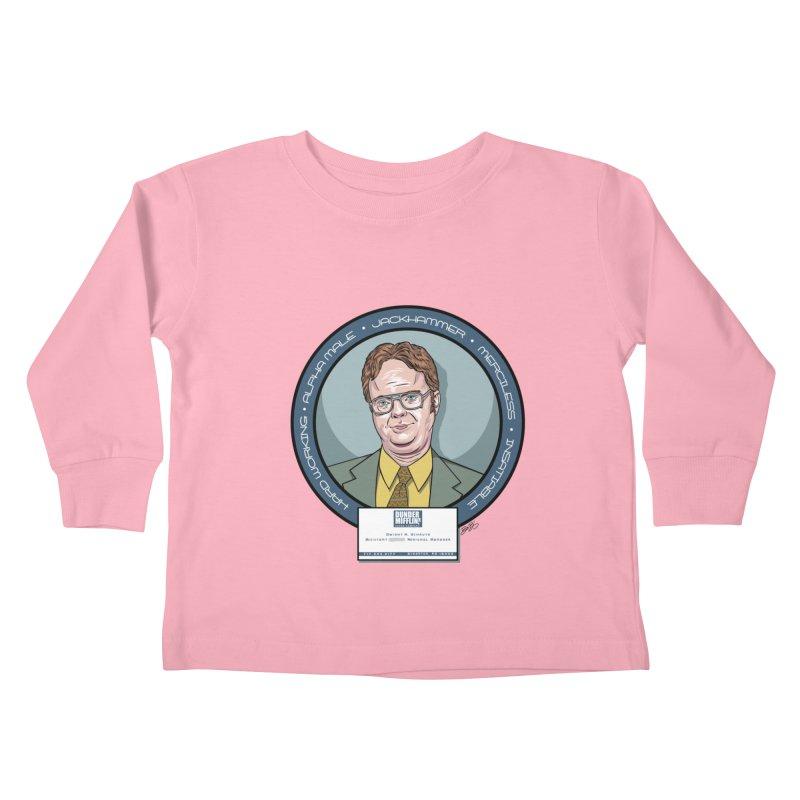 Dwight Kids Toddler Longsleeve T-Shirt by bennygraphix's Artist Shop