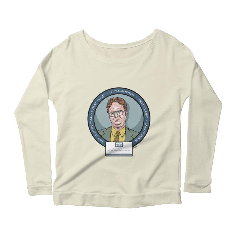 Dwight Women's Scoop Neck Longsleeve T-Shirt by bennygraphix's Artist Shop