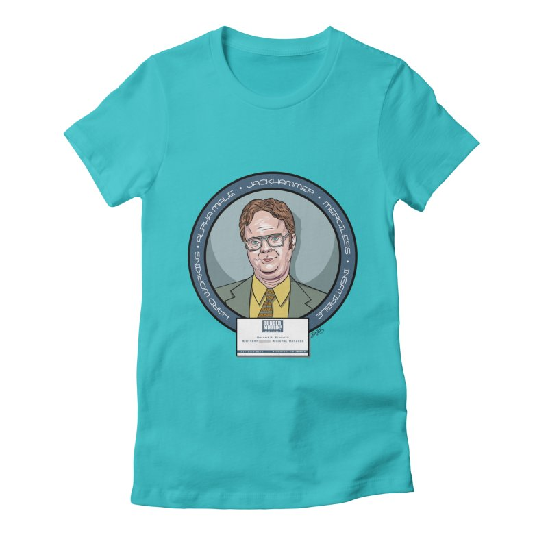 Dwight Women's Fitted T-Shirt by bennygraphix's Artist Shop