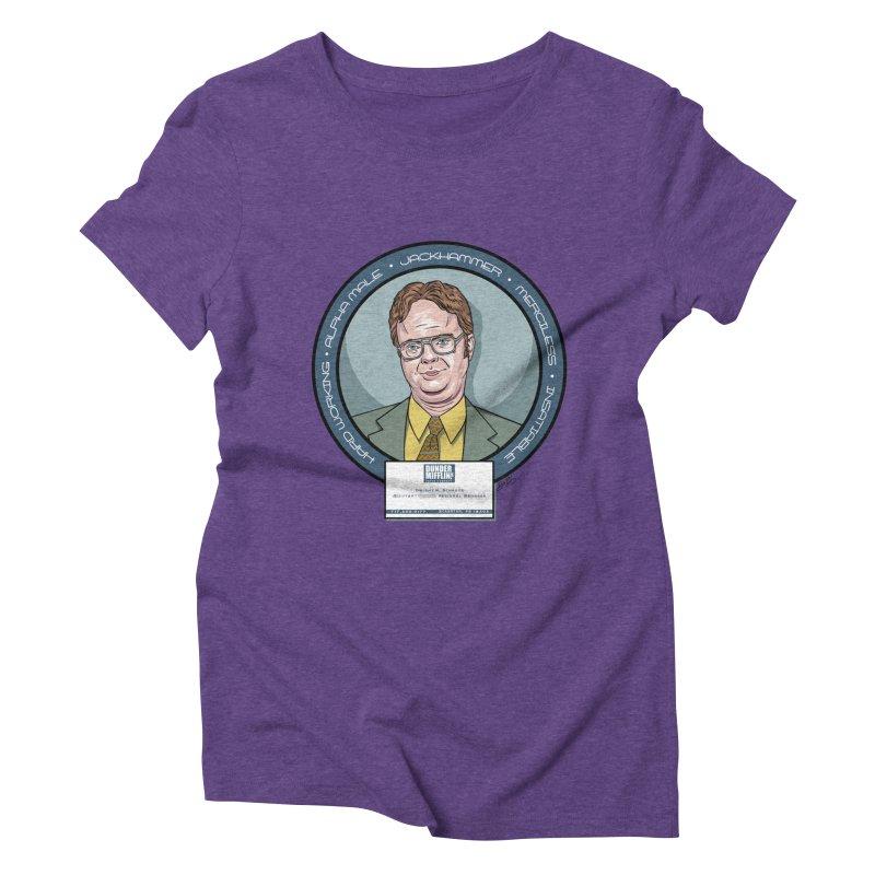 Dwight Women's Triblend T-Shirt by bennygraphix's Artist Shop