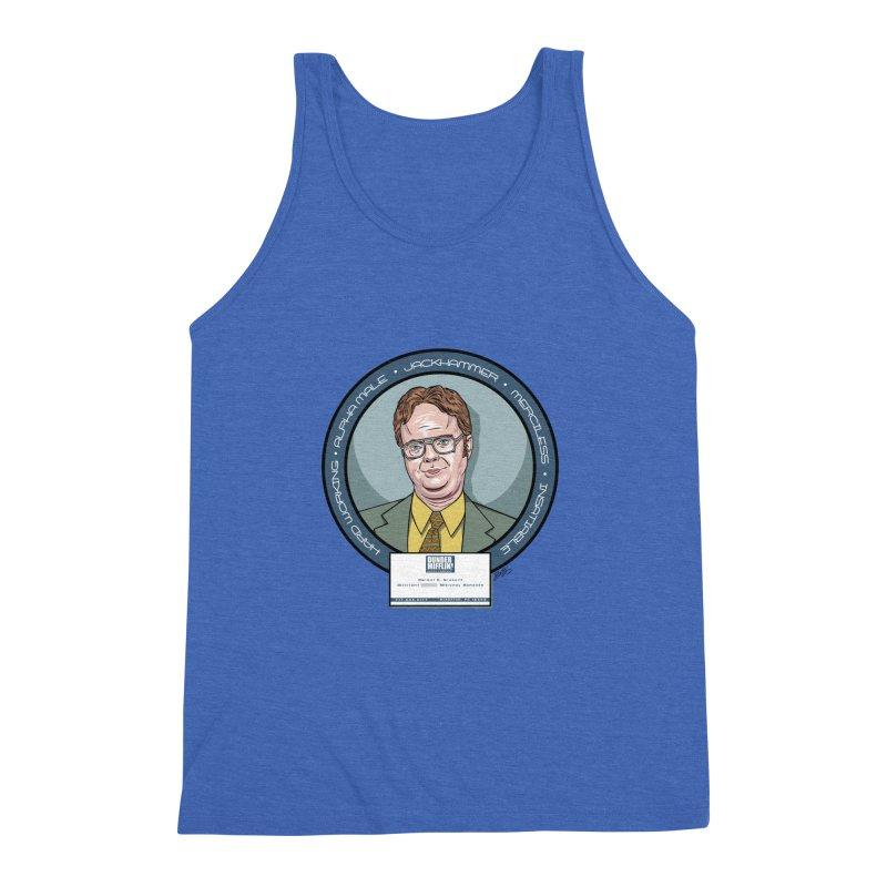 Dwight Men's Triblend Tank by bennygraphix's Artist Shop