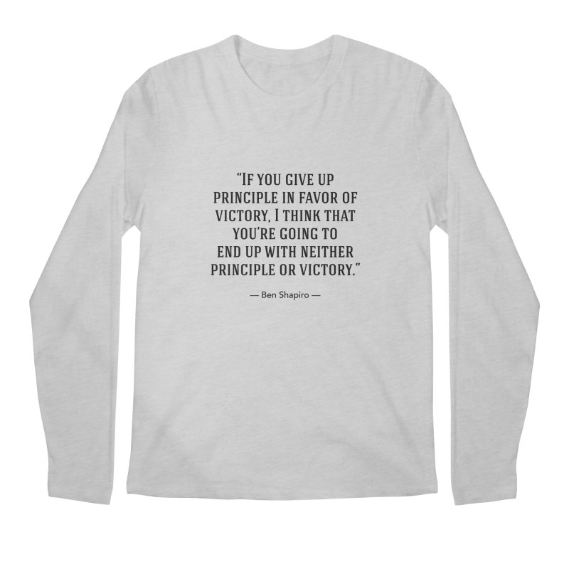 """""""Give up Principle"""" Men's Longsleeve T-Shirt by BenShapQuotes's Shop"""