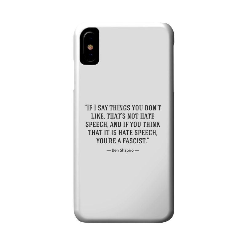"""""""Hate Speech"""" Accessories Phone Case by BenShapQuotes's Shop"""