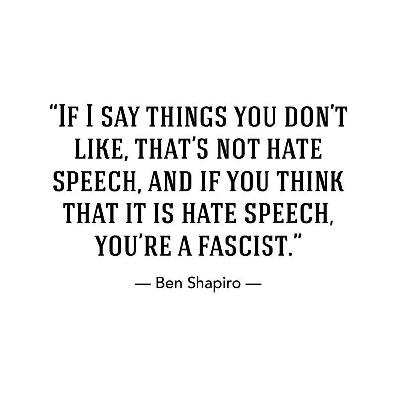 """""""Hate Speech"""" Men's Longsleeve T-Shirt by BenShapQuotes's Shop"""