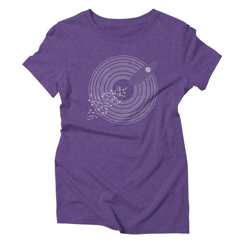 Boards n Beats Women's Triblend T-Shirt by The Artist Shop of Ben Stevens