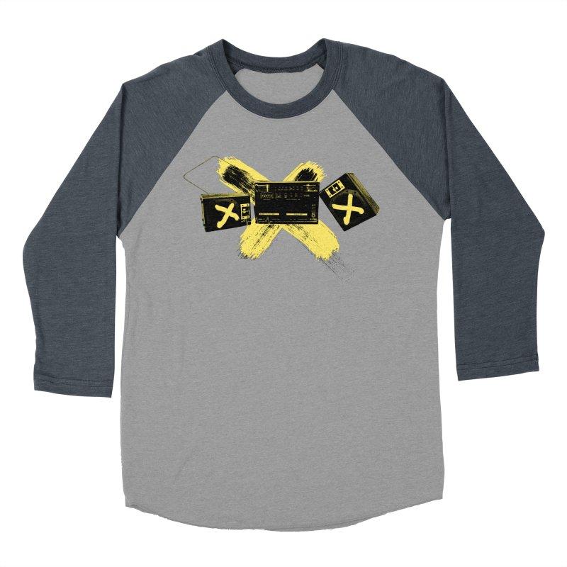 Flatline Women's Baseball Triblend Longsleeve T-Shirt by The Artist Shop of Ben Stevens