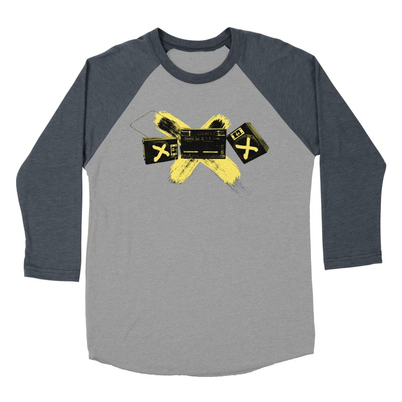 Flatline Men's Baseball Triblend T-Shirt by The Artist Shop of Ben Stevens