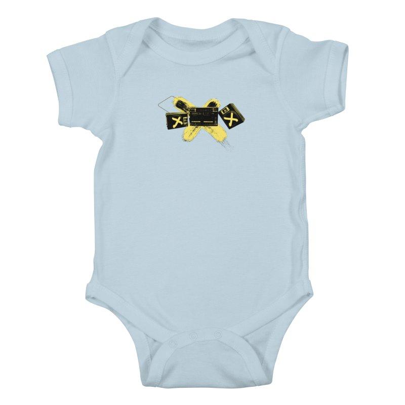 Flatline Kids Baby Bodysuit by The Artist Shop of Ben Stevens